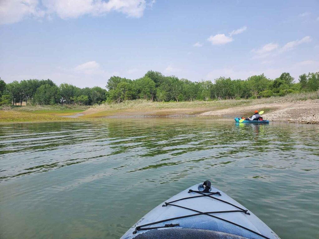 One of our cove explorations while kayaking glendo reservoir