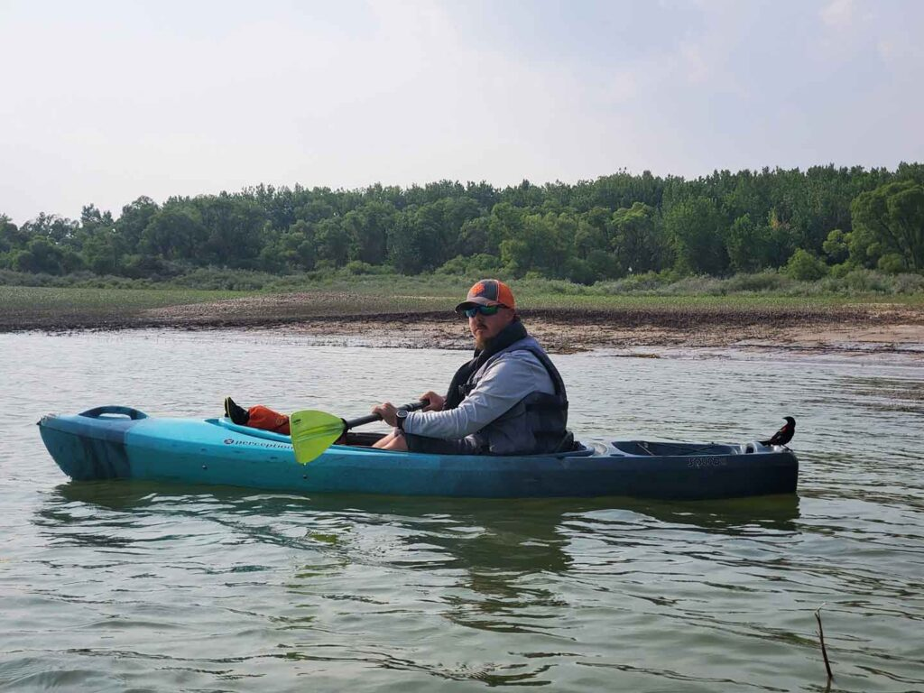 you never know what happens when you're kayaking glendo reservoir!